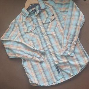 Lucky brand western style plaid shirt